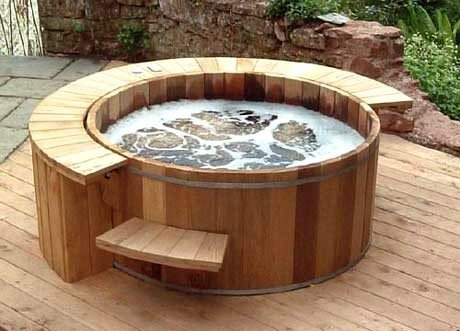 Budget-hot-tub-in-hard-wood